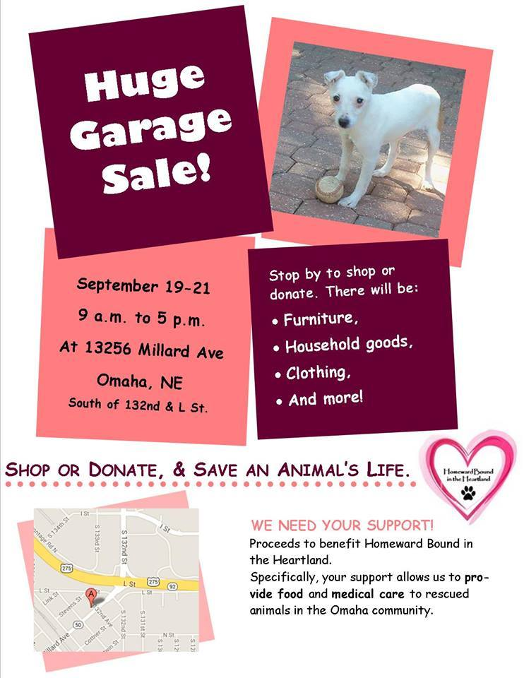 Garage sale sept